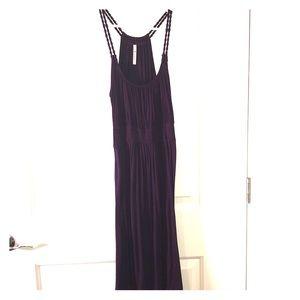 Purple mid length dress